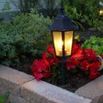 Inspirasjon til hagen: murstein med hagebelysning
